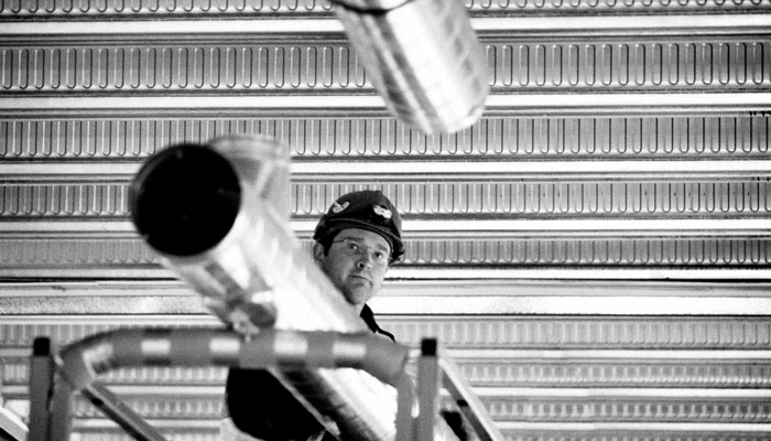 Location Photography In Black And White Of Building Site Under Construction