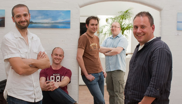 Group Business photographs of the members of Eiconic Games taken in Oxford