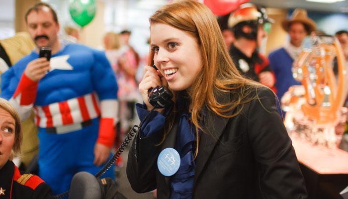 Photograph of Princess Beatrice for ICAP at their charity day 2009