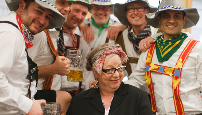 Photograph of Jo Brand for ICAP at their charity day 2009