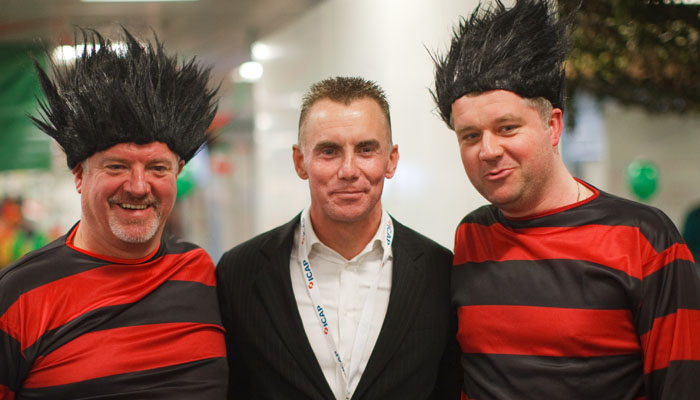 Photograph of Gary Rhodes TV chef for ICAP at their charity day 2009