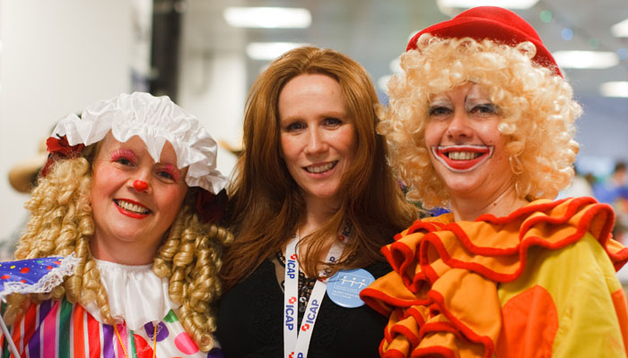 Photograph of Catherine Tate for ICAP at their charity day 2009