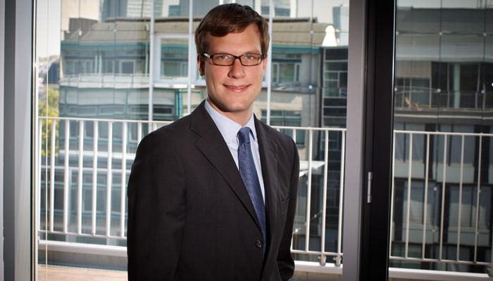 Business Portrait with Frankfurt Skyline