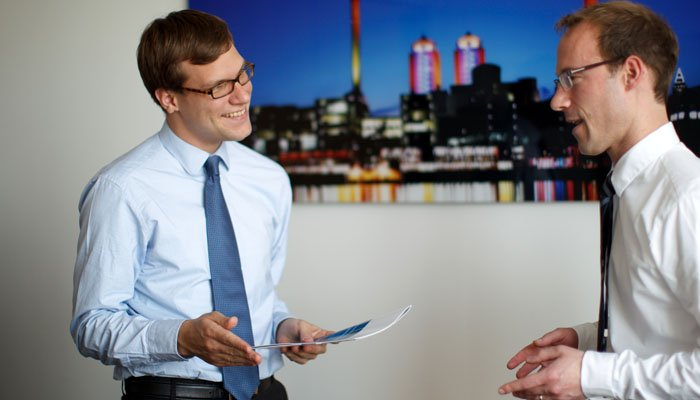 Staff Working in Frankfurt - Corporate Photograph