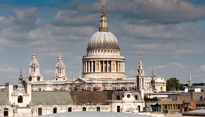 Annual Report Photographer London View of St Paul's Cathedral