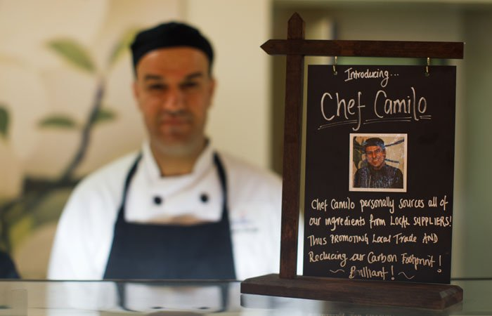 Photography of chef at Earls Court 100% Design Event for 'Creative Events'