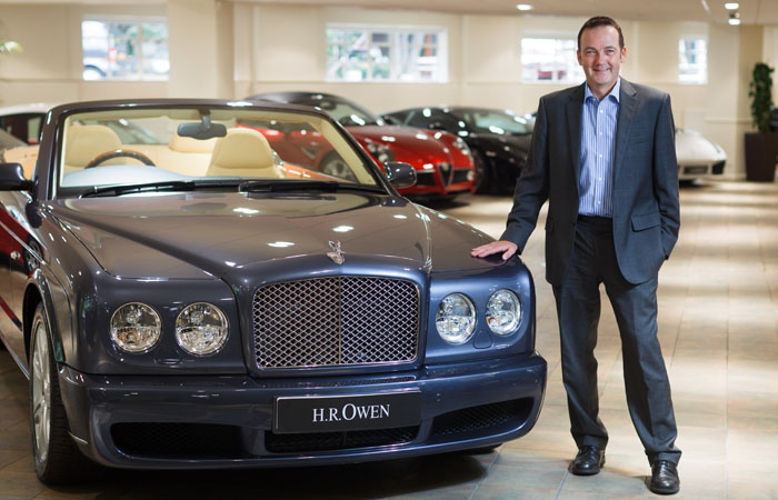 PR Portrait of Andy Duncan with Bentley for Maitland PR