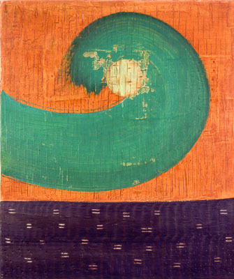 Photograph of Mark Fry's Painting - Green wave