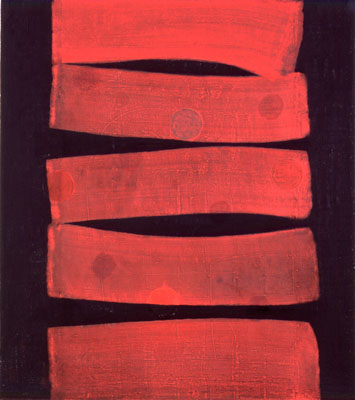 Photograph of Mark Fry's Painting - Red on Black