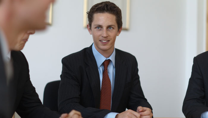 Business Photograph of Trainee at Travers Smith Lawfirm