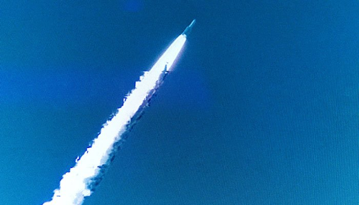 Avanti Photograph of satellit launch during Party in London