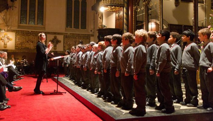 Photographer at Carol Concert - Choir Boys Singing