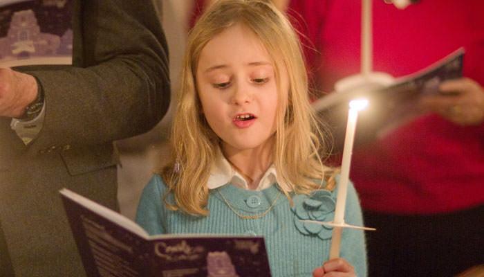 Photograph of Girl Singing at Carol Service at St Paul's Knightsbridge, London