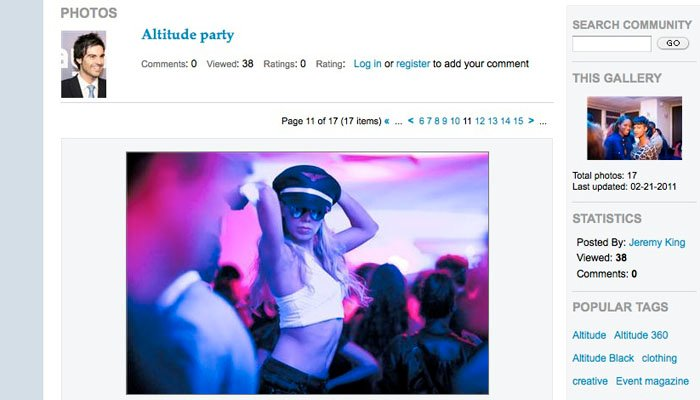 Piranha Photography Photograph on Event Magazine Website of Party