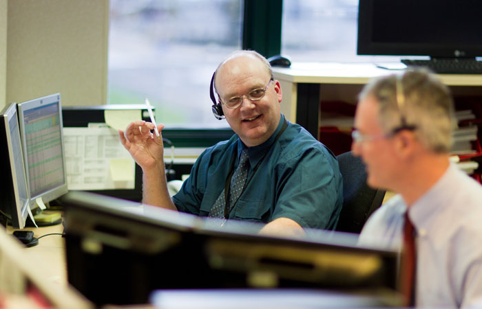 Staff Photographed Working in Bracknell Office for Annual Report