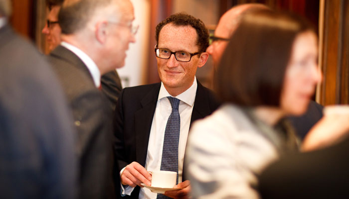 Photograph of guest at Business Breakfast Meeting