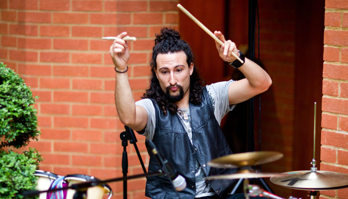 Event Photograph of Drummer at Party in London