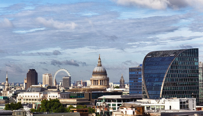 Front Cover Photograph of London Skyline for Annual Report