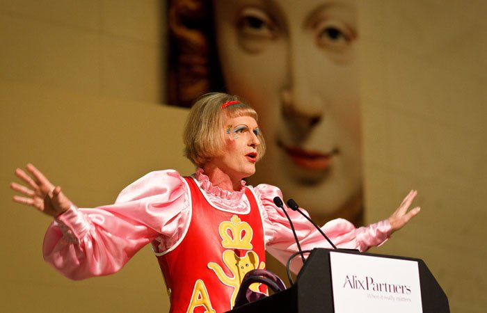 Photograph of Grayson Perry in London