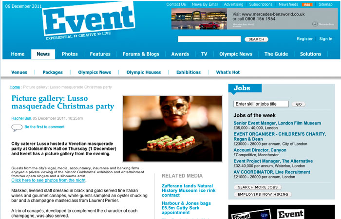 Event Magazine Photograph of Christmas Party in London