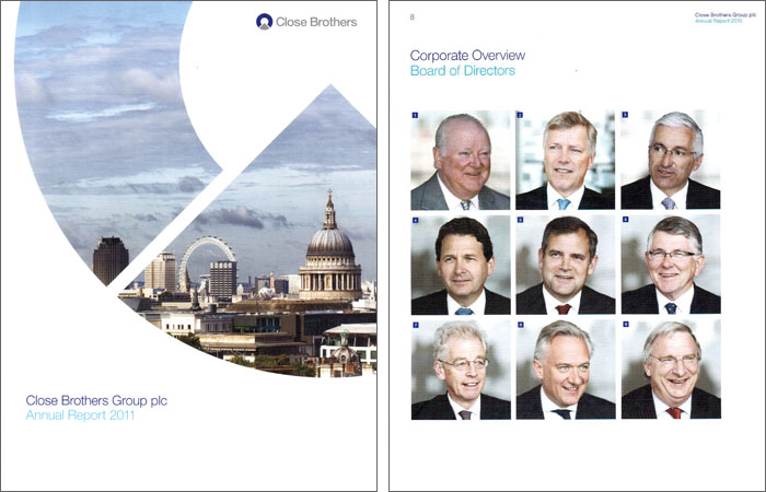 Annual Report front cover and Board of Directors photographs