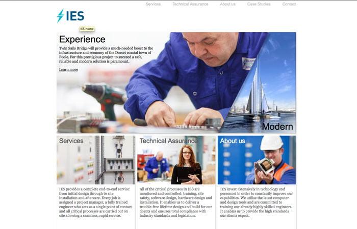 New Home Page I.E.S. Website