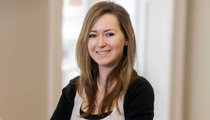 company photograph of staff member in London