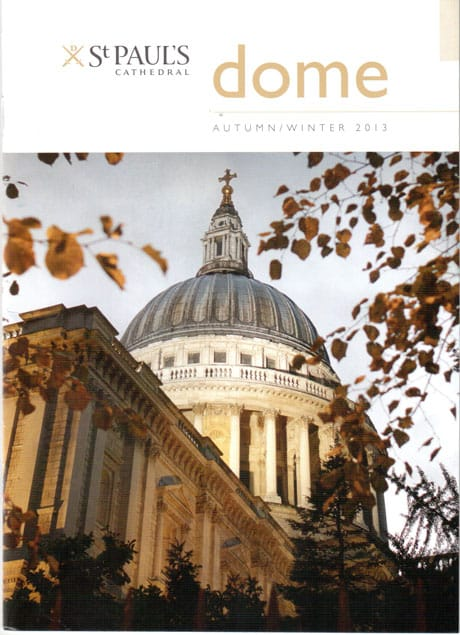 Front Cover Photograph Newsletter St Paul's Cathedral