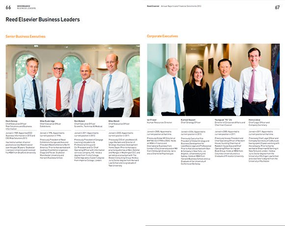 Reed Elsevier Annual Report  Board Of Directors And Location