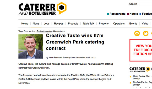 PR Photograph Greenwich Contract Win