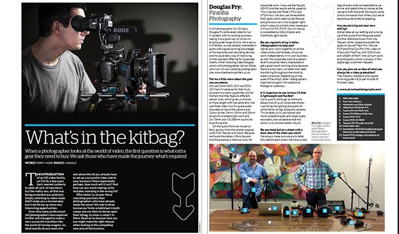 Article in HDSLR Moviemaker about Piranha