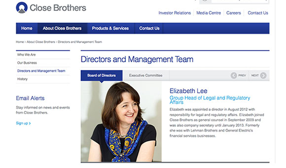 Close Brothers Bank - Website Photography by Piranha