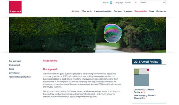 Client financial services website