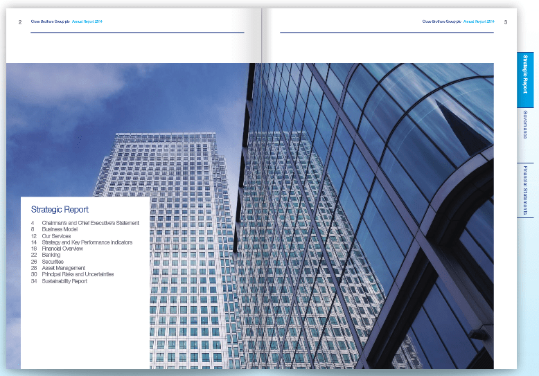 Photograph in Close Brothers Annual Report - Buildings City of LondonPhotograph in Close Brothers Annual Report - Buildings City of London