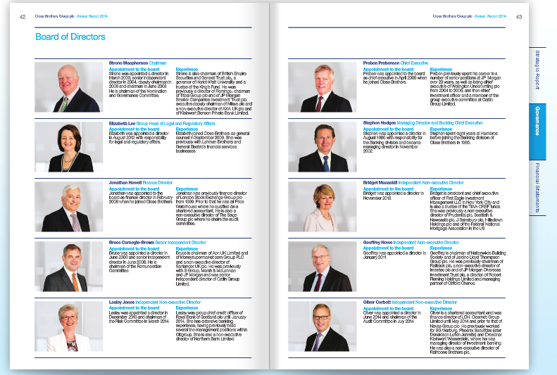 Board Photography for Bank's Annual Report