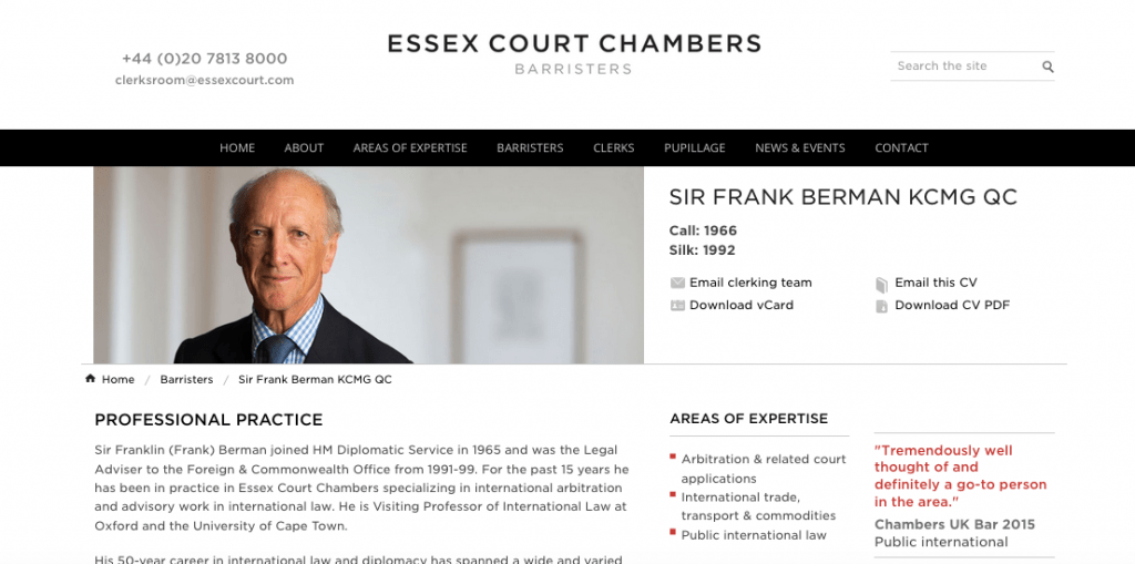 Profile Photograph of Barrister for Website
