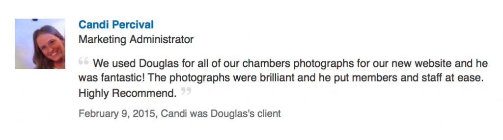 LinkedIn review from barristers chambers in London