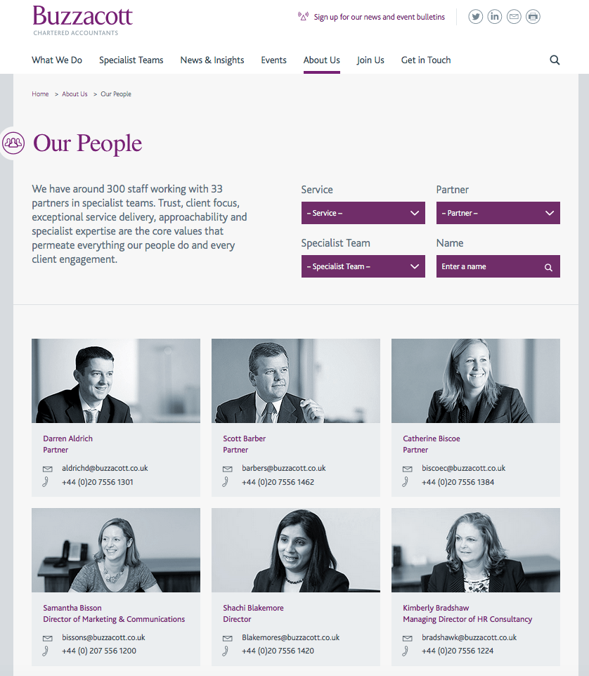 Accountancy Firm Website