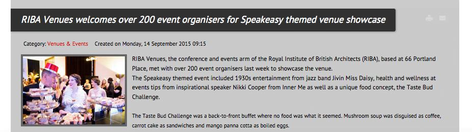 Press Coverage of Event