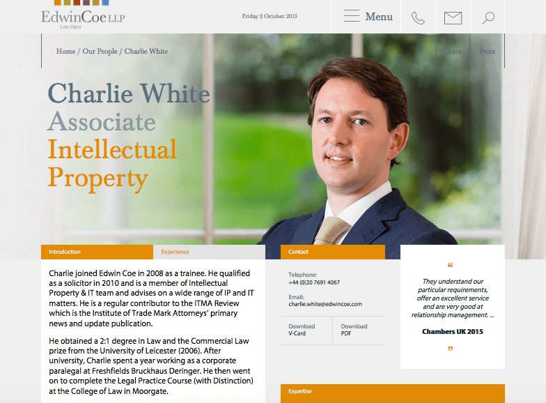 Law Firm Portraits for Website