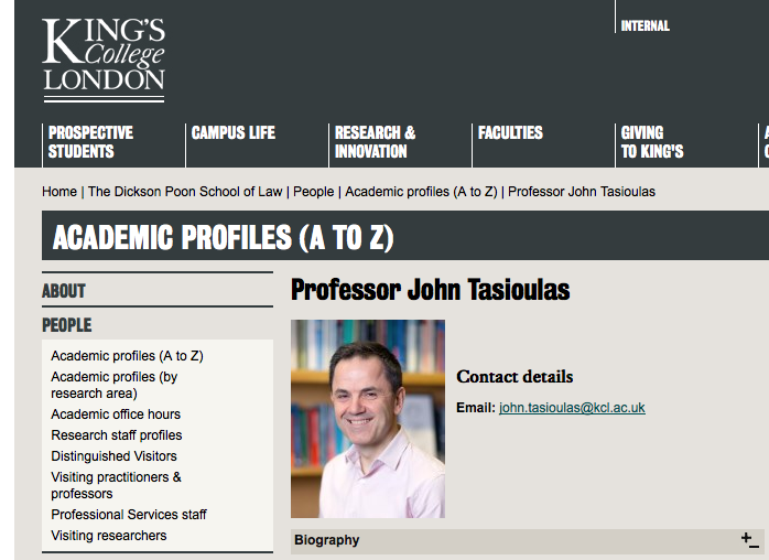 Kings College London Professor's Portrait