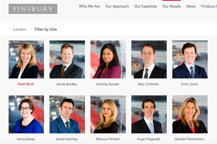 PR Company Webpage
