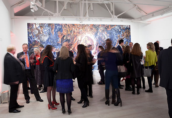 Corporate Photograph of guests at Saatchi gallery event
