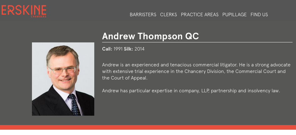 Barristers Website - Portraits