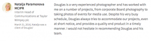 LinkedIn Review from corporate client