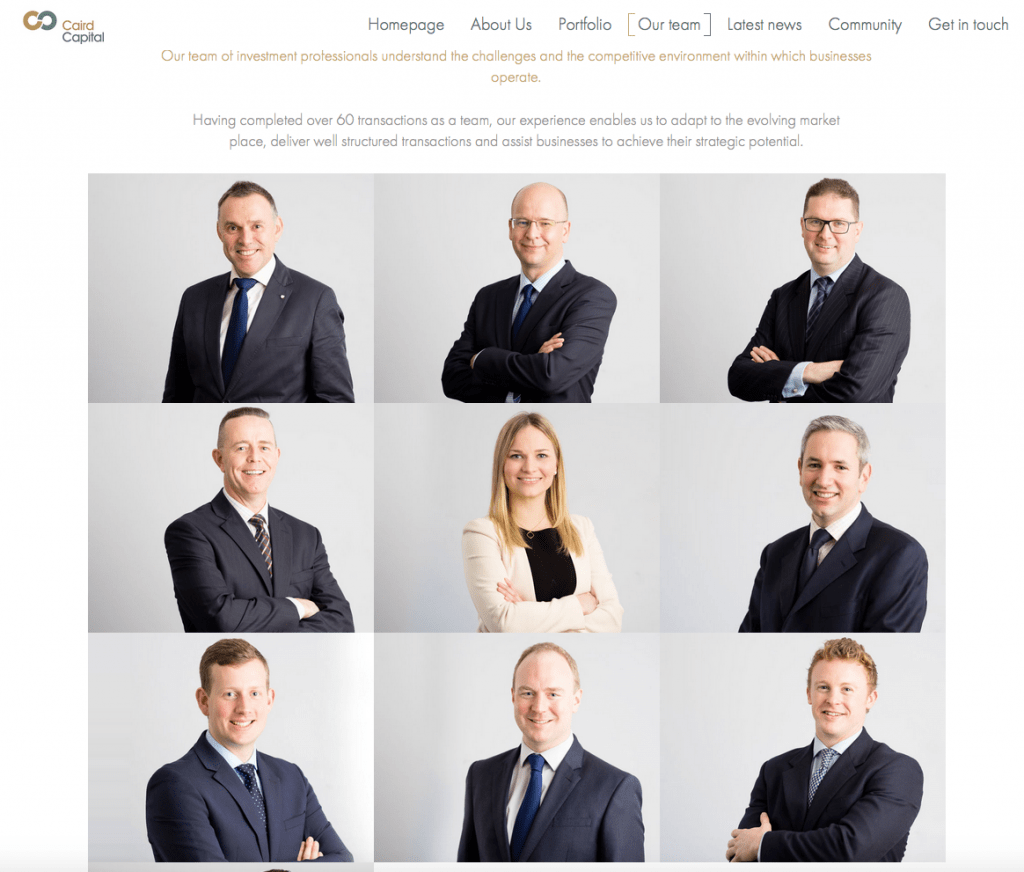 Private Equity Company Photography