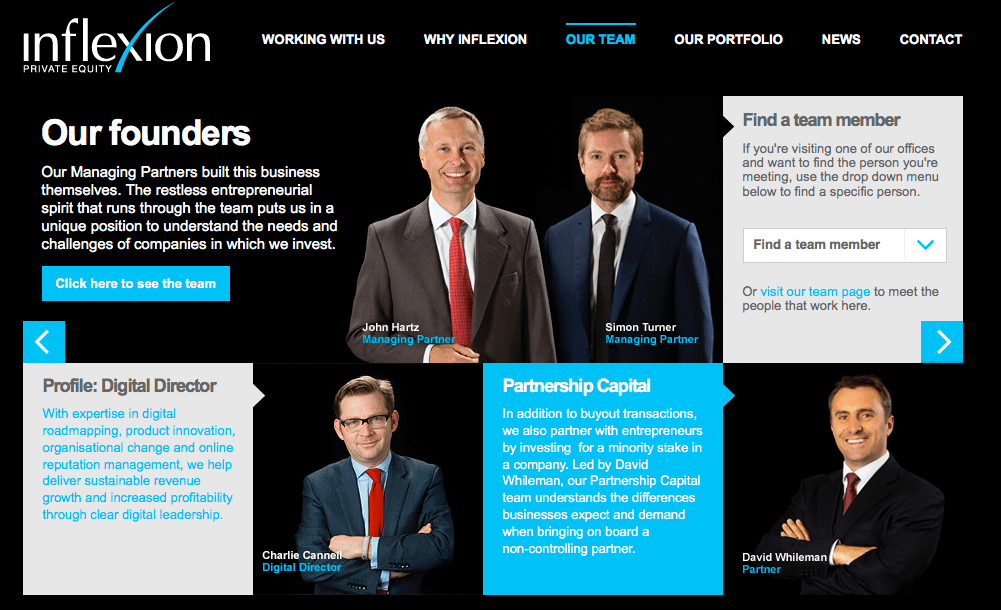 Private Equity Company Website