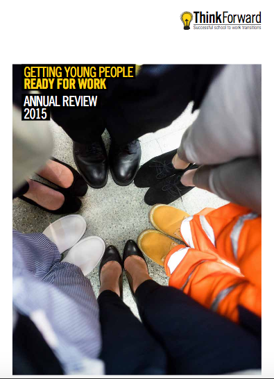 Annual Review Front Cover Photograph showing feet with different shoes - photograph taken by Piranha