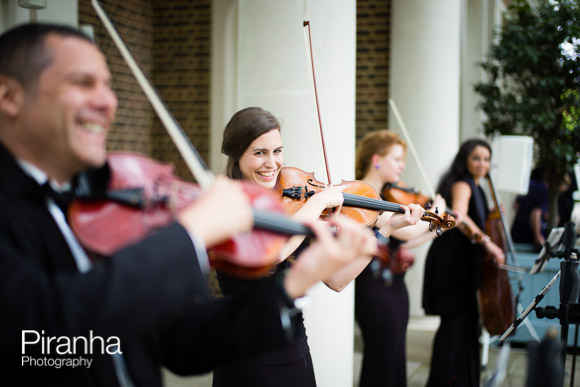Violinists playing at Charity Event in London - Photography