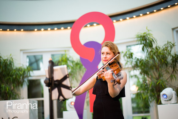 Violin player at Corporat Party  Photographed in London